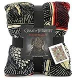 Game of Thrones Gifts Merchandise GOT Decke Super Soft Luxus Bettüberwurf Stark Lannister Targaryen Greyjoy Baratheon Tyrell Great House Symbols Westeros